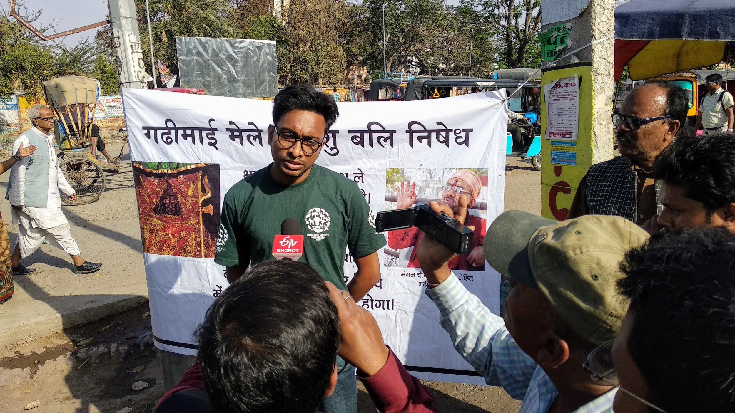 Campaigning against Gadhimai sacrifice