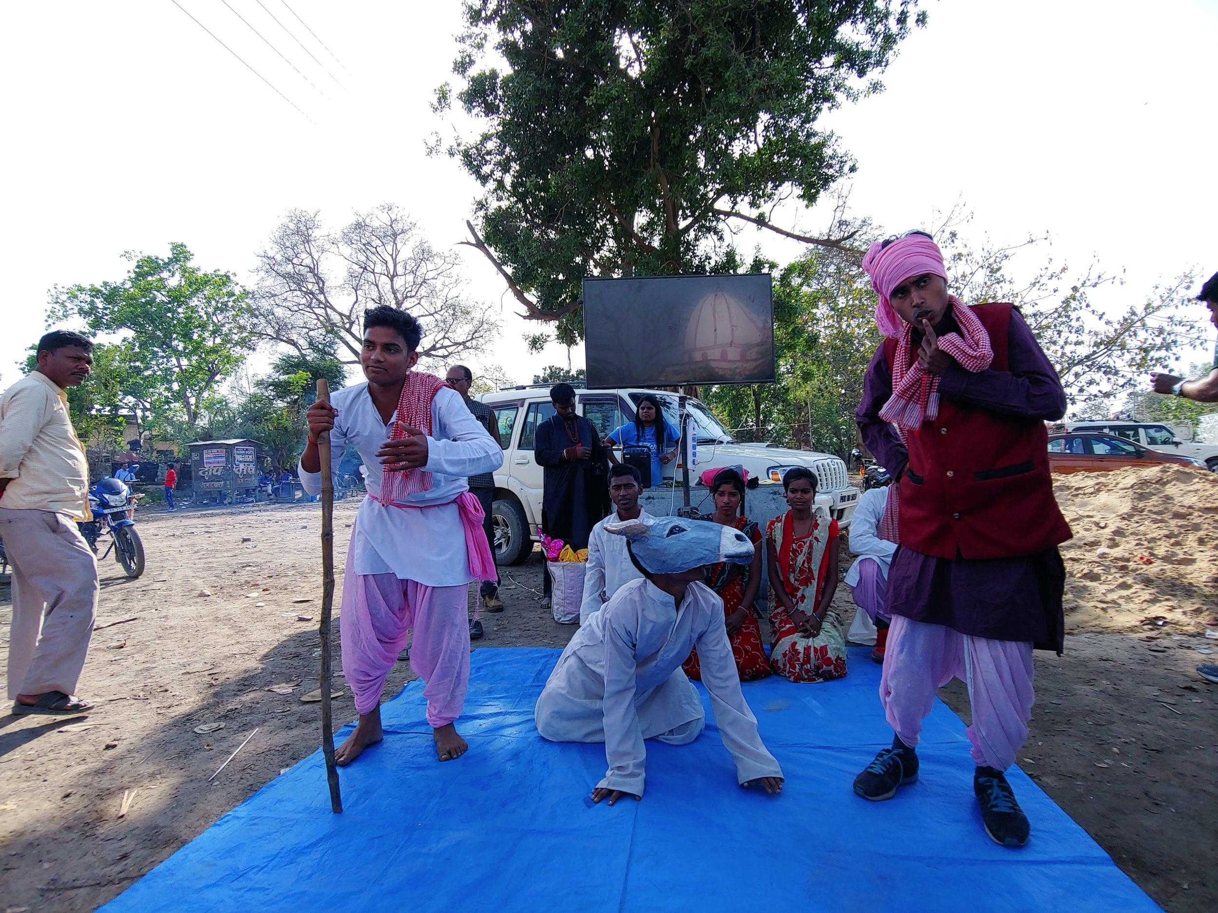 Street theatre against Gadhimai sacrifice