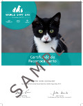Cat World Spay Day certificate sample